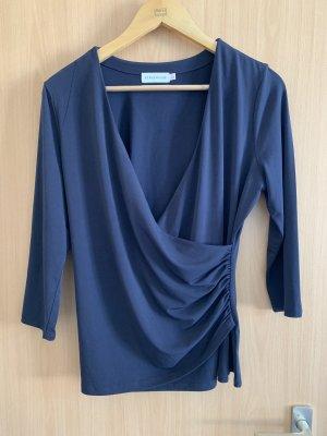 Maglietta aderente blu scuro
