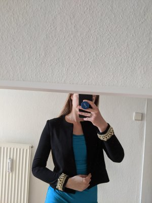 H&M Tuxedo Blazer black-gold-colored