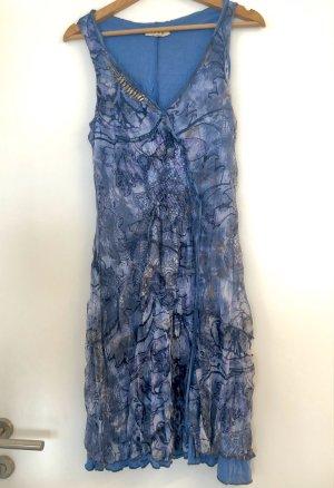 Oui Gebreide jurk veelkleurig