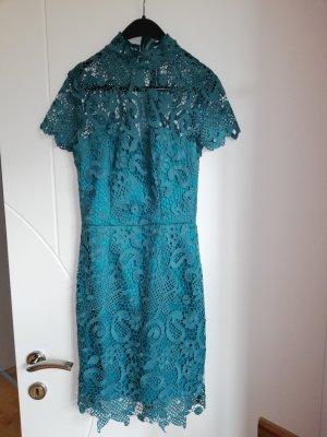 Chi Chi London Lace Dress cadet blue