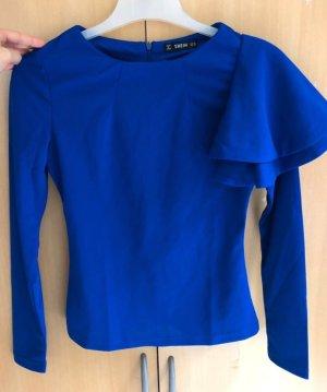 Sheinside Long Sleeve Blouse blue