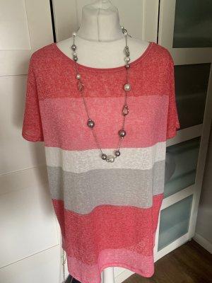 Comma Camicia a tunica rosso lampone-rosa