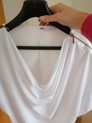 Koszulka z dekoltem woda biały