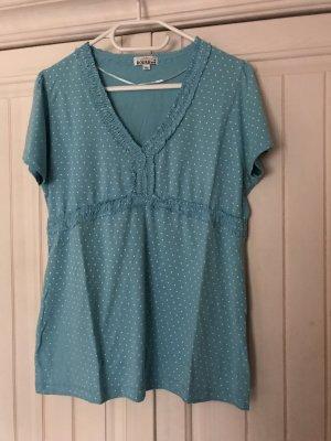 Boule T-Shirt white-cornflower blue