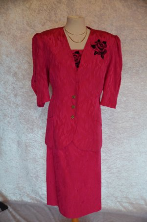 Tailleur rosa-rosso lampone Poliestere