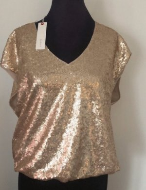 Edc Esprit Camisa con cuello V color oro-beige