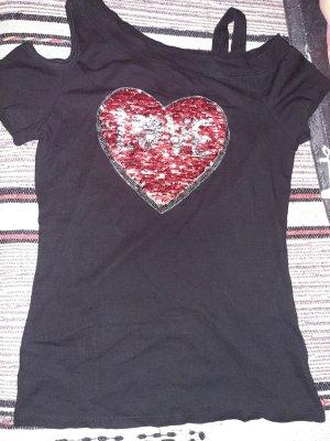 Camisa de un solo hombro multicolor tejido mezclado