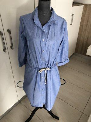 Koszulowa sukienka błękitny