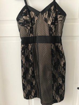 bpc bonprix collection Suknia wieczorowa czarny-kremowy