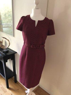Schickes Kleid aus hochwertigem strukturiertem Stoff mit eingewebten Punkten 14L