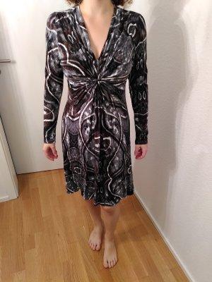 schickes Kleid mit Ausschnitt außergewöhnlicher Print L