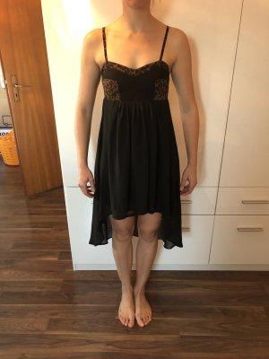 Vestido tipo overol negro-marrón