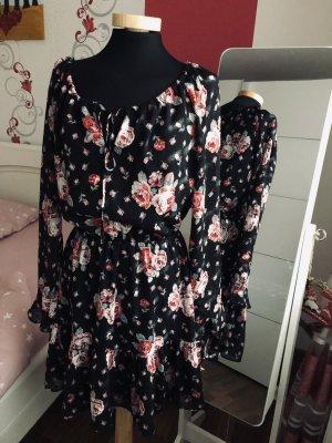 Schickes Kleid von H&M Schwarz /Rot, mit Ärmel