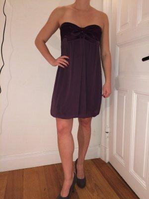 vestido de globo púrpura Poliéster