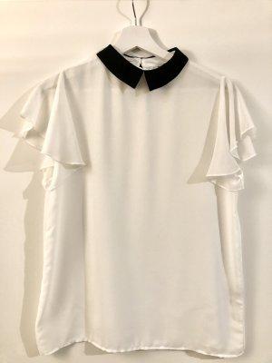 Schickes Kragen-Shirt Weiß & Schwarz