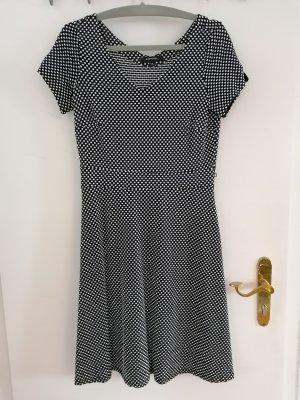 Comma A Line Dress white-black
