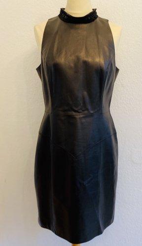 Chanel Robe en cuir noir cuir