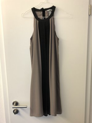H&M Halter Dress black-light grey