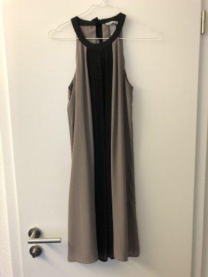 H&M Sukienka z dekoltem typu halter czarny-jasnoszary