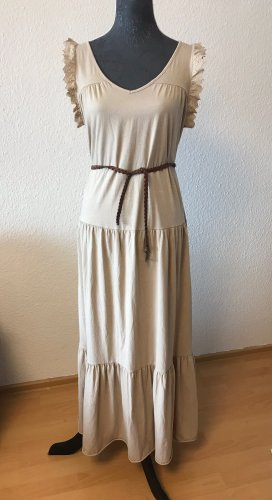 Made in Italy Maxi abito beige-color carne