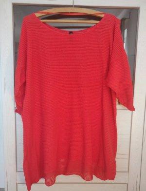 maxi blue. Oversized Shirt neon orange-bright red