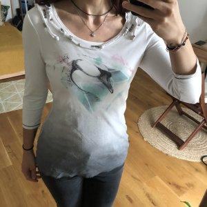 Biba Bodysuit Blouse silver-colored-white