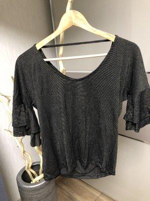 Only V-hals shirt zwart-goud