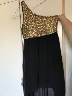 Vero Moda Robe bas asymétrique noir-doré