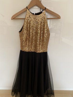 Love is everywhere Sequin Dress gold orange-black