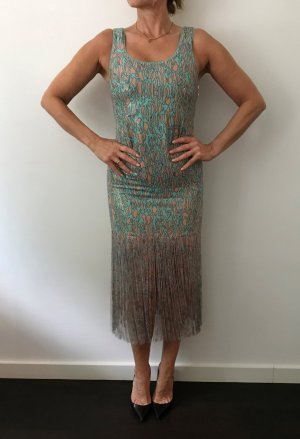 Patricia Pepe Fringed Dress turquoise-light orange