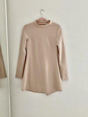 Schickes rosa Langarm Minikleid