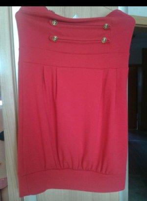 Schickes rotes Trägerloses Kleid