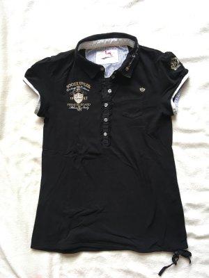 schickes schwarzes Poloshirt