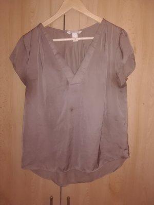 H&M Conscious Collection T-shirt col en V gris