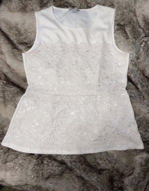 H&M Cropped Shirt white