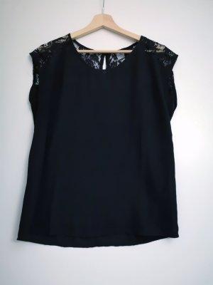 Gehaakt shirt zwart