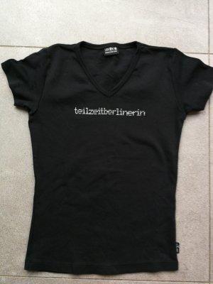 """schickes Shirt von Look54 mit Svarowski Steinen """"teilzeitberlinerin"""""""