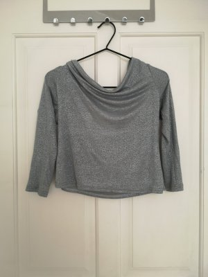 Cowl-Neck Top silver-colored