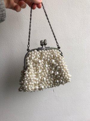 Sisley Minitasje wit-zilver