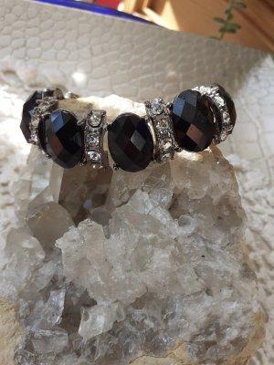 Accessorize Armband zwart-zilver