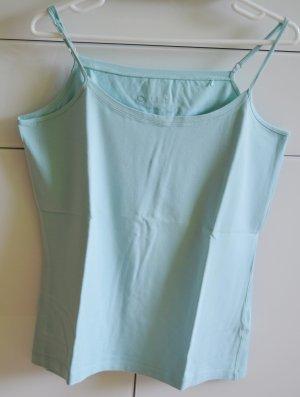 Oui Spaghetti Strap Top turquoise cotton