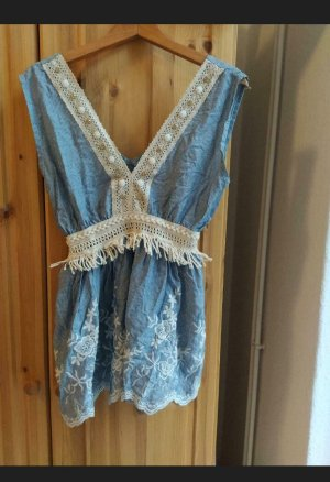 Frill Top natural white-azure