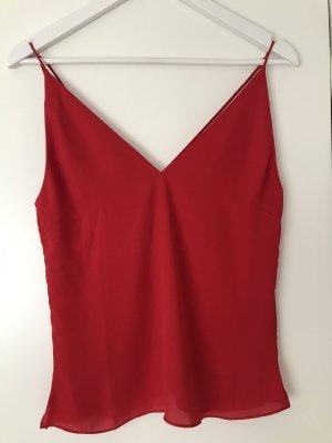 H&M Haut dos-nu rouge foncé polyester