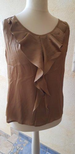 Street One Top à volants brun sable-marron clair