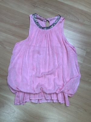 Made in Italy Top spalle scoperte rosa pallido-rosa chiaro Viscosa