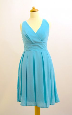 Orsay Chiffon Dress light blue polyester