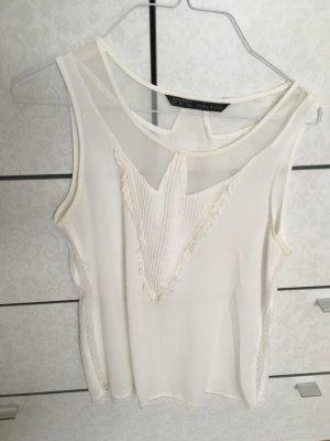 Schickes weißes Top von Zara