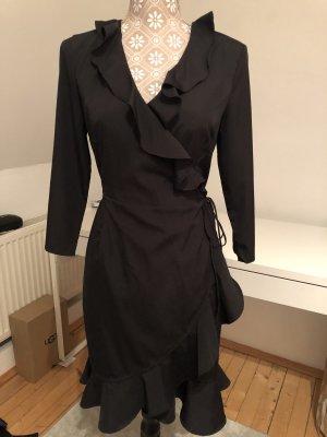 Vero Moda Vestido cruzado negro