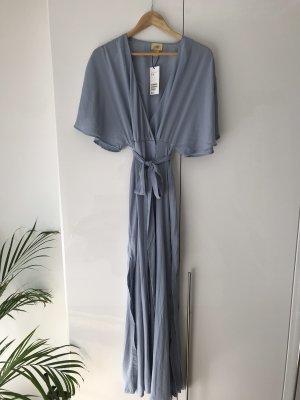 H&M Vestido cruzado azul celeste