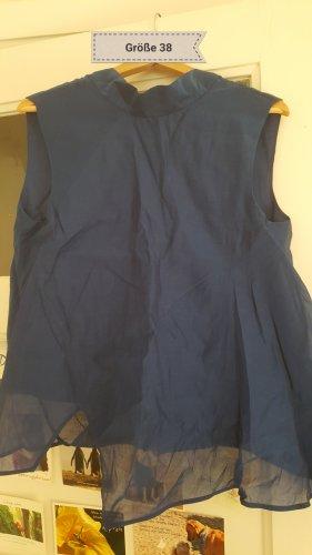 COS A Line Top dark blue